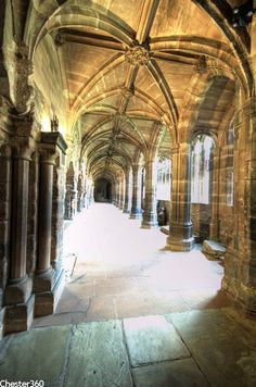 Chester Cathedral Medieval; Cloisters, Cheshire, England