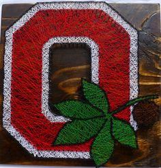 Ohio State Buckeyes String Art Ohio State by ABUnderwoodCo2