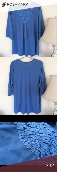 Karen Brooks blue shirt Karen Brooks light weight blue blouse. Never been worn and NWT. Would go great with a pair of jeans or dress pants. Karen Brooks Tops Blouses