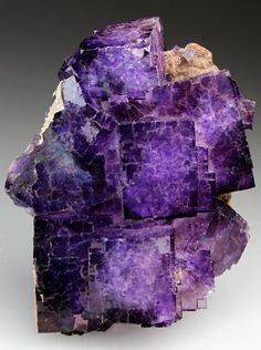 [crystals] Fluorite - highly protective on a psychic level, benefits teeth, cells, and bones,  repairs DNA damage. Purple stimulates the third eye