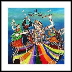 Garba Framed Print by Ivy Sharma