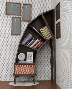 "Disaster Bookshelf by Victor Barish. So ""down the rabbit hole,"" love it!"