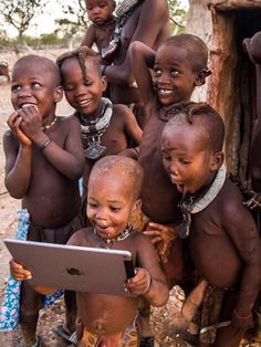 Children watching a Caleb and Sophia video