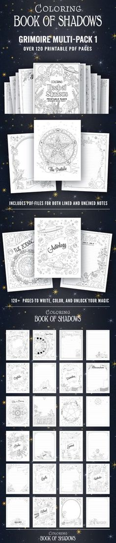 Coloring Book of Shadows PDF