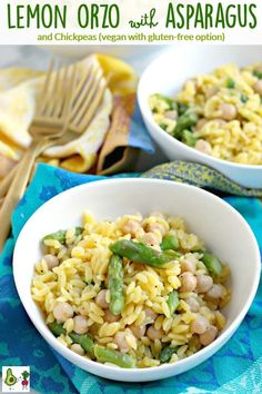 Lemon Orzo with Aspa