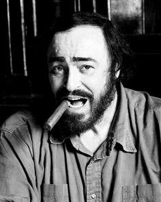 Ravageurs smoke cigars. | Luciano Pavarotti by John Stoddart