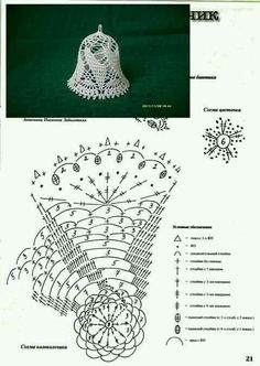 Witam:) To co wczoraj zobaczyłam na swojej tablicy na FB S - SalvabraniCrochet Patterns Christmas Photo only. No pattern - Salvabrani - SalvabraniAnges au crochet Plus - SalvabraniCrochet Bell About tall with threadLearning to knit crochet bells on Crochet Diagram, Crochet Chart, Thread Crochet, Crochet Motif, Crochet Flowers, Crochet Snowflake Pattern, Christmas Crochet Patterns, Holiday Crochet, Crochet Snowflakes