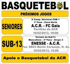 ACR: Basquetebol   > 16 Fevereiro 2013