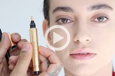 A beauty tutorial where luminizer and concealer work magic on under-eye circles