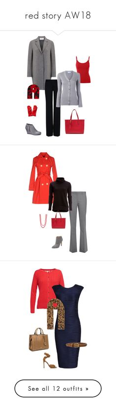"""""""red story AW18"""" by cokie61 on Polyvore featuring Chinese Laundry, Burberry, Harris Wharf London, McQ by Alexander McQueen, STELLA McCARTNEY, Prada, Portolano, Pure Navy, MYF and Theory"""