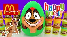 The Toy Bunker presents The Lion Guard Giant Play Doh Surprise Egg  with The Lion King McDonalds Happy Meal Kids Toys 2004!  To celebrate the release of The Lion Guard on the Disney Channel we made this Timon Play Doh Surprise Egg and filled it with Lion King Happy Meal Toys from the 2004 collection of The Lion King 1 1/2.  The was a COOL set even if a few of them didn't work. But the fact that they still had power from 2004 was pretty cool!  This Lion King McDonalds Happy Meal Toys…