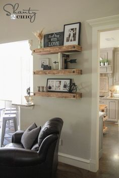 Simple DIY Floating Shelves