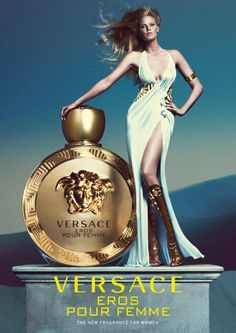Get a preview of the new Versace Eros Pour Femme perfume capturing the radiant and sensual essence of contemporary women. Discover the stunning campaign starring supermodel Lara Stone. Available in 2015. #Versace #VersaceFragrances  Photographers: Mert Alas & Marcus Piggott, Starring: Lara Stone, Art Direction: Giovanni Bianco, Styling: Joe McKenna, Hair styling: Garren, Make-up: Lucia Pieroni