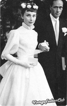 Audrey Hepburn's wedding gown