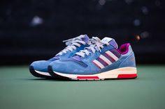Nice Blue Purple Adidas Consortium Zx 420 Quotoole Retro Shoes