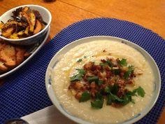 Cauliflower soup (no cream, no broth), side of baked pumpkin ...