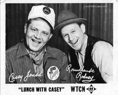 The 1950′s and 60′s were a special time for children in Minneapolis, Minnesota. Each day there was a kiddy television show called Lunch With Casey. It featured Casey Jones and Roundhouse Rodney and aired on WTCN channel 11.