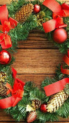 Noel Christmas, Christmas And New Year, Christmas Wreaths, Christmas Decorations, Xmas, Framed Wallpaper, Holiday Wallpaper, Iphone Wallpaper, Holidays Halloween