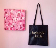 Think Pink, Wear Black, our newest tote!