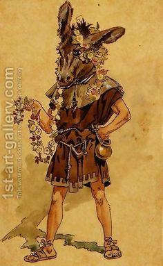 C. Wilhelm: Bottom, costume design for A Midsummer's Night Dream
