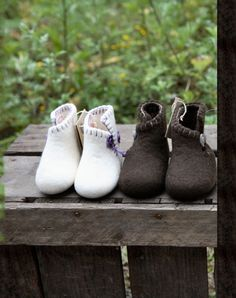 baby ren uld sko fra Clemente