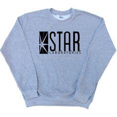 STAR LABS Jumper Barry Alan The Flash Inspired Fan Pullover Various... ($21) ❤ liked on Polyvore featuring tops, hoodies, sweatshirts, sweatshirts hoodies, pullover tops, blue sweatshirt, unisex tops and pullover sweatshirts