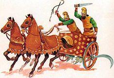 Persian battle chariot