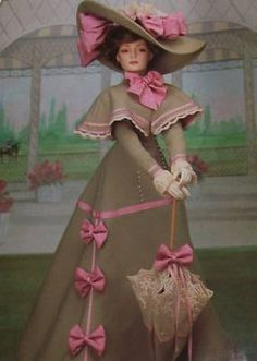 "Franklin Mint Porcelain Gibson Girl Doll 22"" COA 