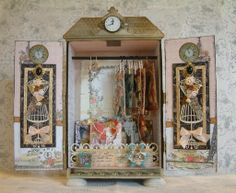 Artfully Musing: ATC Armoire New Sample & Video of Supplies Youll Need - tutorial