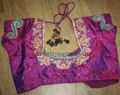 Maggam Work Silk Designer Blouses | Saree Blouse Patterns