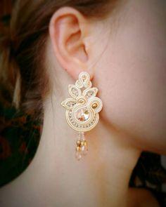 Fabric Jewelry, Boho Jewelry, Jewelry Crafts, Wedding Jewelry, Jewelery, Soutache Bracelet, Soutache Jewelry, Beaded Jewelry, Beaded Necklace