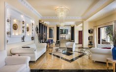 Pandis Palace Luxury seafront holiday Villa in Crete Crete Chania, Palace, Luxury, Holiday, Furniture, Home Decor, Gallery, Beach