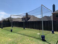 Backyard Sports, Backyard Baseball, Batting Cage Backyard, Pvc Roofing, Travel Baseball, Backyard Gazebo, Baseball Training, Yard Games, Woodworking Projects Diy