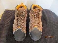 WOLVERINE NXT STEEL TOE BOOTS - SIZE 10M  (BROWN WITH BLACK TOE) #Wolverine #NXTAnkleBoots