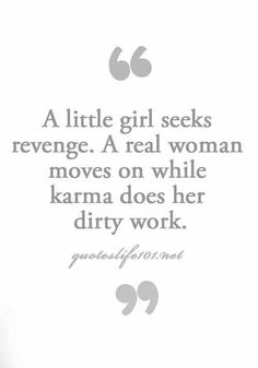 A little girl..seeks revenge quote.
