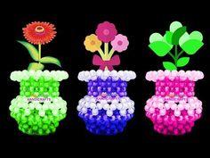 নতুনদের জন্য পুতির ফুলদানী/ How to make mini flower vase for beginners/ beaded flower vase Beaded Crafts, Beaded Ornaments, Diy Crafts, Minecraft Beads, Bead Bowl, Mini Vasos, Perler Bead Disney, Flower Art Drawing, Pink Hair Bows