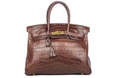Hermès Birkin Bag 35 Niloticus Matt Havana Gold | Luxussachen.com