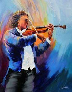 CHRISTIAN JEQUEL peinture au couteau  (Suite de la page 2) Violin Art, Violin Music, Art Music, Cool Violins, Squirrel Art, Bee Art, Jazz Blues, Art Abstrait, Sound Of Music