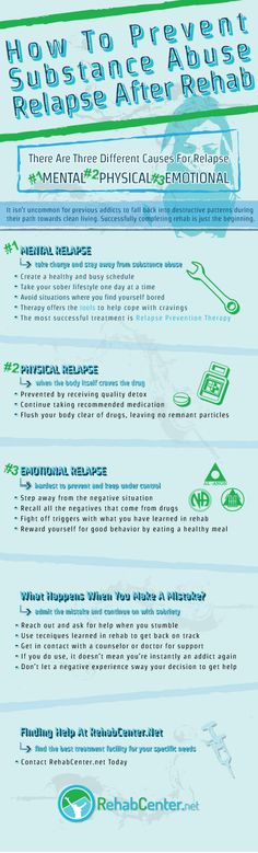 How To Prevent Substance Abuse Relapse After Rehab Infographic  http://www.rehabcenter.net/how-to-prevent-substance-abuse-relapse-after-rehab-infographic/