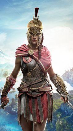 Beautiful, warrior, Assassin's Creed Odyssey, 2018, Kassandra wallpaper