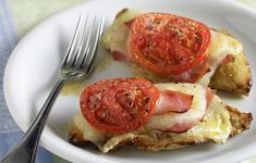 Φιλέτα κοτόπουλου με τυρί, ζαμπόν και ντομάτα στο φούρνο ~ Μικρά Μυστικά