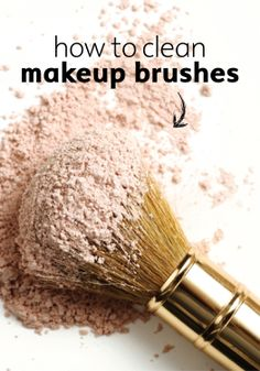 Put your best face forward with clean makeup brushes.