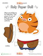 Roly Halloween Paper Doll
