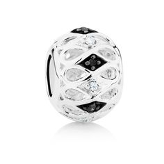 Sterling silver and diamond* charm (12368686) #marrakesh #emmaandroe *Coloured and black diamonds are irradiated and heat treated, respectively, to permanently enhance colour and may be sensitive to heat.