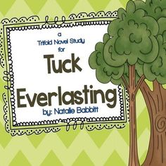 This product contains foldable novel study trifolds for the book Tuck Everlasting. Designed to be used whole-class, small group, or as an individual book study. Each section of the foldable trifold focuses on a different essential reading comprehension skill and aligns with state and Common Core standards.