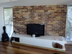 Exposed Brick Wallpaper, Statement Wall, Brickwork, Wine Cellar, Game Room, Man Cave, Small Spaces, Home Improvement, New Homes
