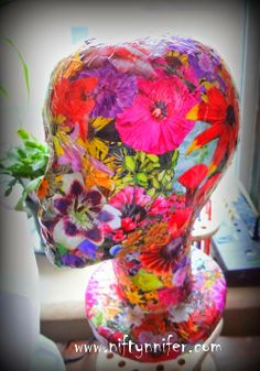 Tutorial - How to Decoupage a Mannequin Head in Flowers - Totally Tutorials