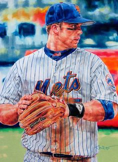 Mets David Wright Art by Janine Hoffman