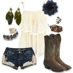 """Little Bit of Everything"" ~~country fashion~~.....they even have my boots my honey bought me!!"