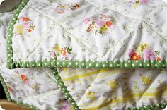 Vintage sheets sewn into quilt. Here is the real link for this image: http://pinkpicketfence.typepad.com/pink_picket_fence/2009/01/bits-and-pieces.html